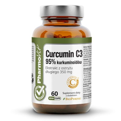 PharmoVit CURCUMIN ekstrakt 95% KURKUMA+PIPERYNA