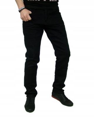 Spodnie jeans czarne regular pas 104cm 37/34 -607