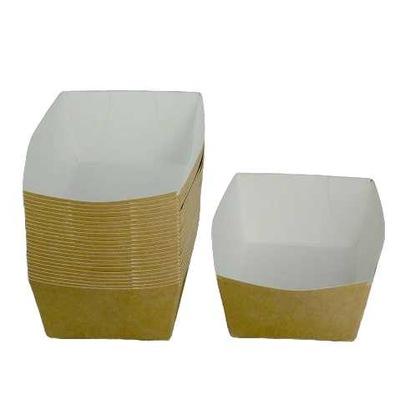 Лотки бумажные одноразовые 16x10x5,5см., 100шт.
