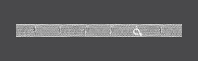 Taśma marszcząca do rolet 2cm F6 9.20.001.3