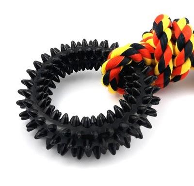 Mocne gumowe kółko ring gryzak zabawka dla psa