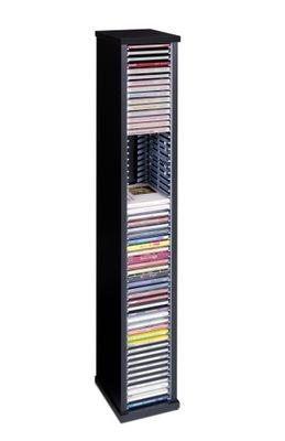 Stojak CD 60 płyt regał półka ZŁOŻONY ! Czarny