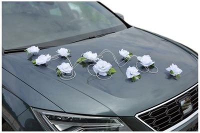 Dekoracja samochodu ozdoby na auto do ślubu A43