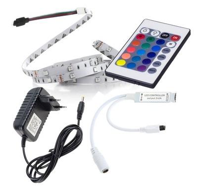 Taśma LED ZESTAW 150 RGB 1m + sterownik i zasilacz