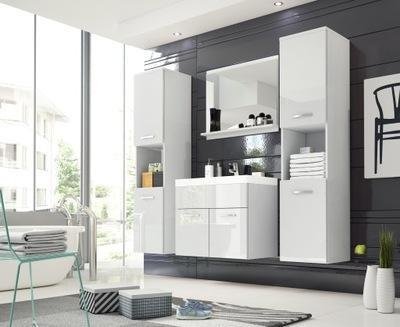 белое мебель для ванной комнаты, тумба, зеркало , умывальник