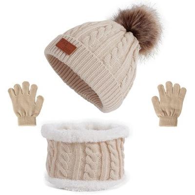 Komplet czapek rękawiczek i szalików dla Dziecko