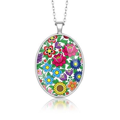 Медальон Овал цветы ZALIPIA neen цветы народные