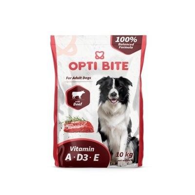 OPTI BITE s hovädzím mäsom - suché krmivo pre psy - 10 kg