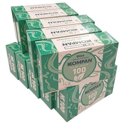 Gilzy Kompan Klik Mint Miętowe 10 x 100 szt