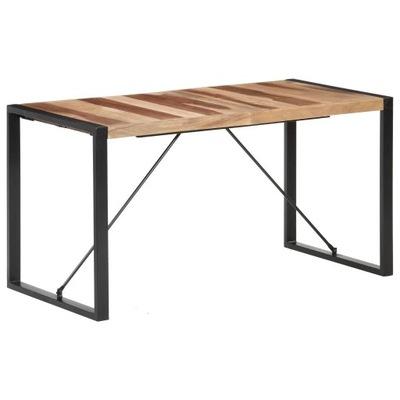 Stół Jadalniany 140 x 70 x 75 cm Drewno Sheesham
