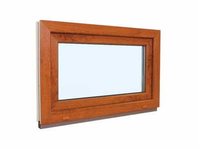 okno pcv 110 x 70 cm / 1100x 700 mm złoty dąb