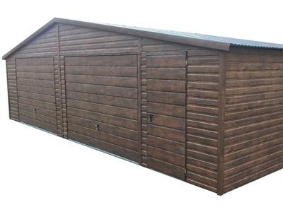 Garaż blaszany 9,5x5 profil ocynk blaszak obróbki