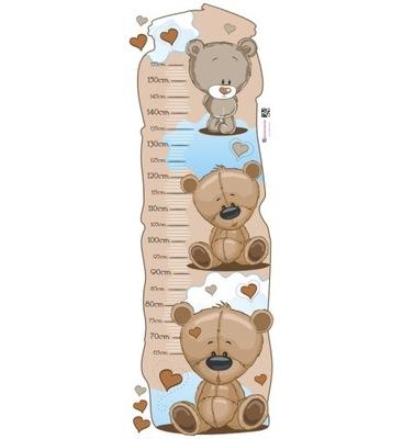 наклейка детей - мерка Рост - Мишки