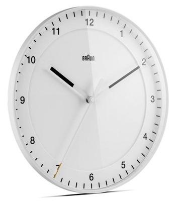 Zegar Ścienny Braun Cichy Nowoczesny Duży Biały