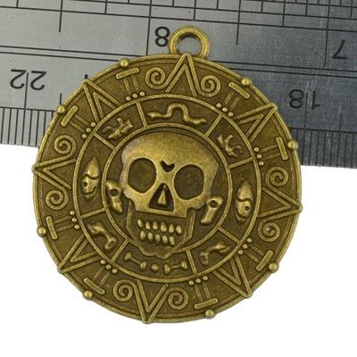 6szt wisiorek medalion czaszki monety