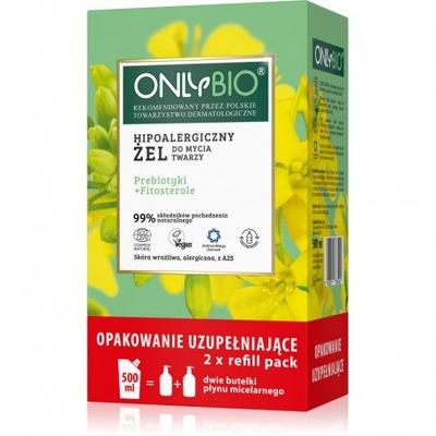 Only Bio Hipoalergiczny Żel Twarzy Refill 500ml