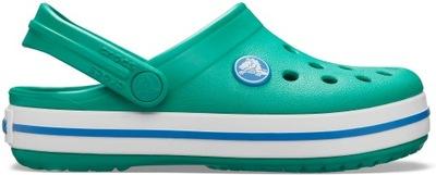 Crocband Clog deep green prep blue J5 (37,5)