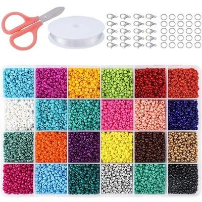Zestaw koralików do robienia biżuterii 24000 szt.
