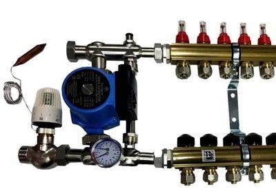 Separátor podlahového kúrenia, 3 čerpadlá, ventily rotametra