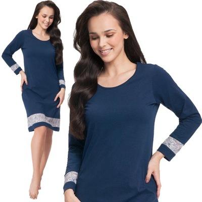 Elegancka koszula nocna z bawełny Luna 0045 XL