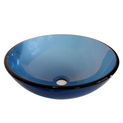 Sklenené umývadlo s rámom LOGO Q 36cm Výpredaj