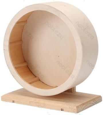 Karuzela kołowrotek chomika gryzoni drewno 28cm