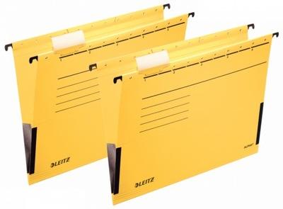 Teczka zawieszana kartonowa A4 Leitz żółta x 2