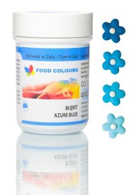 Barwnik w żelu Food Colours BŁĘKITNY