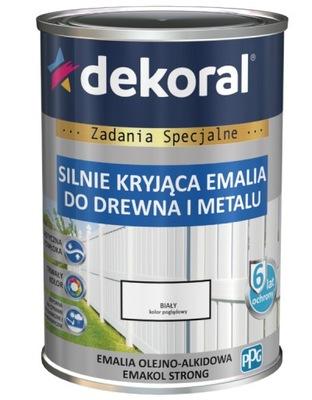 DEKORAL EMALIA EMAKOL STRONG 0,2L CZARNY MAT 9005
