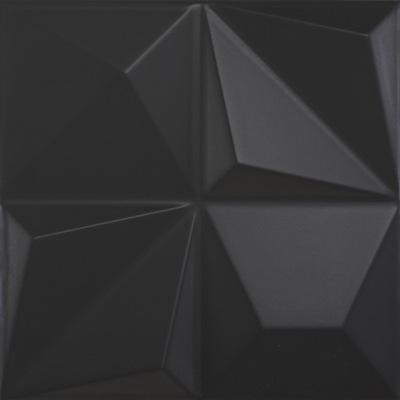 Dune Shapes Multishapes Black Mat 25x25cm 187347