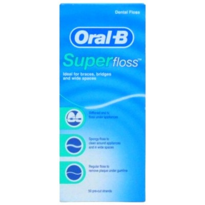 ORAL-B nić dentystyczna 50 szt SUPER FLOSS