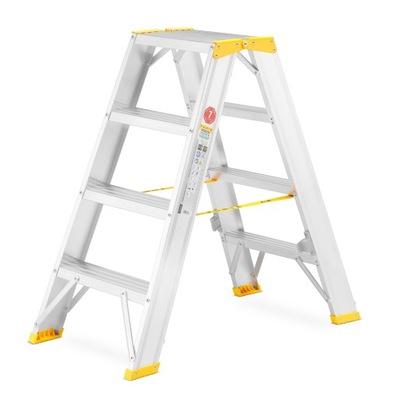 Лестница алюминиевая монтажная ALOSS 2x4 2 ,85м