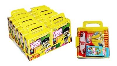 комплект Обед Коробка с резина и конфетами 12 штук