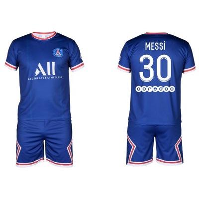 Strój komplet piłkarski - MESSI PSG - 146 cm