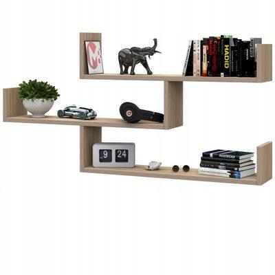 Nowoczesna wisząca półka na książki - SONOMA