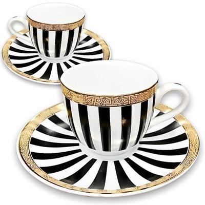 Zestaw 2 Filiżanek do kawy ESPRESSO komplet paski