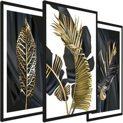 Nowoczesny obraz w ramie złota seria - 135/65 cm