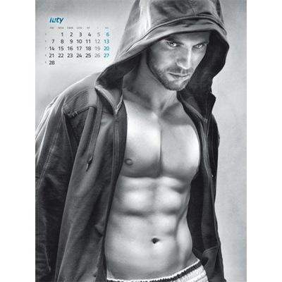 faceci seksowni chłopcy men panowie kalendarz 2022