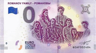 0 EURO ROSJA RODZINA ROMANOWÓW UNC