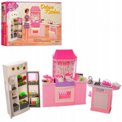 Kuchyňa pre bábiky 3 moduly chladnička, sporák, umývadlo