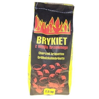 Брикет угля древесного на гриля 2 ,5кг