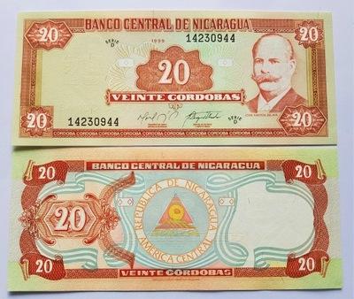 Nikaragua 20 Cordobas 1999 P-189 UNC