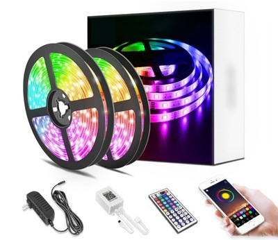 Taśma LED 10M RGB 5050 Bluetooth APLIKACJA MOBILNA