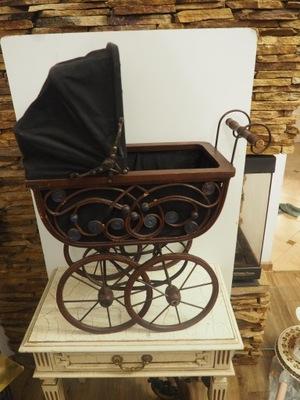 Wózek drewniany ornament ozdoba