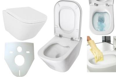 Рока Gap миска туалет A34647L CLEAN RIM + доска В/О +?