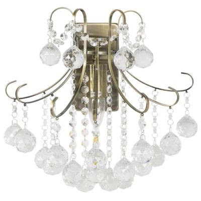 Sconce Lampa stene EL 6245/1 crystal mosadz