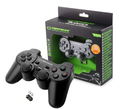 BEZPRZEWODOWY PAD PS3 PC WIBRACJA USB ANALOG