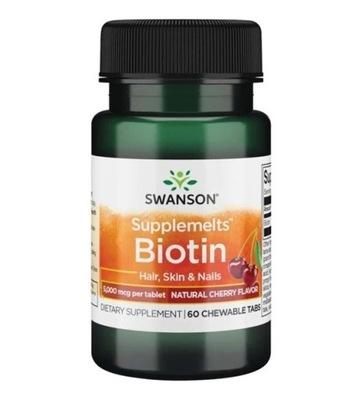 SWANSON Biotyna WŁOSY skóra WITAMINA H B7 60tab