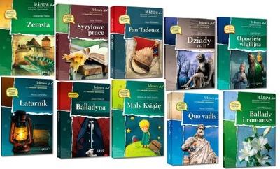Lektury obowiązkowe kl.VII-VIII pakiet 10 książek