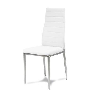 Стул стулья Экокожа белое ноги Серые 704B